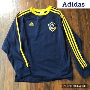 Adidas Navy & Gold Long Sleeves T